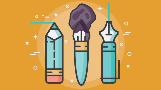 pencil paint brush pen