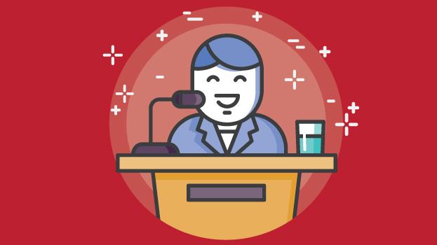 Public Speaker Red