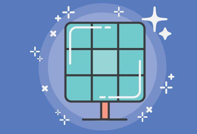 Illustration of solar panel