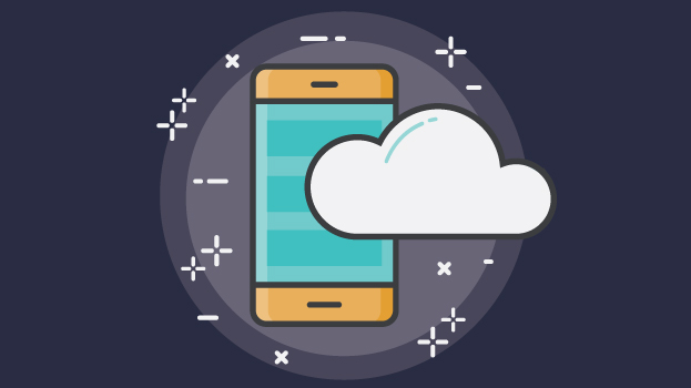 cellphone and cloud