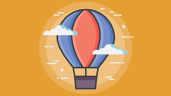 Illustration of hot air balloon
